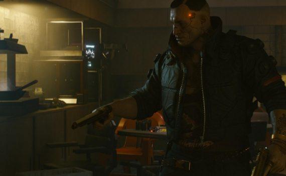 Cara armado no Cyberpunk 2077