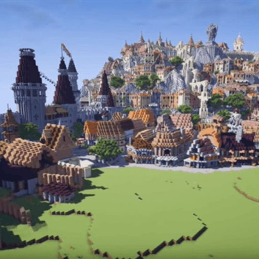 Novigrad do The Witcher 3 em Minecraft