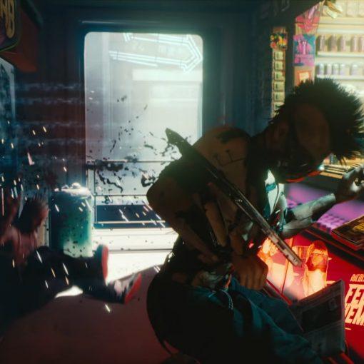 Bar do trailer de cyberpunk 2077 na E3 2018