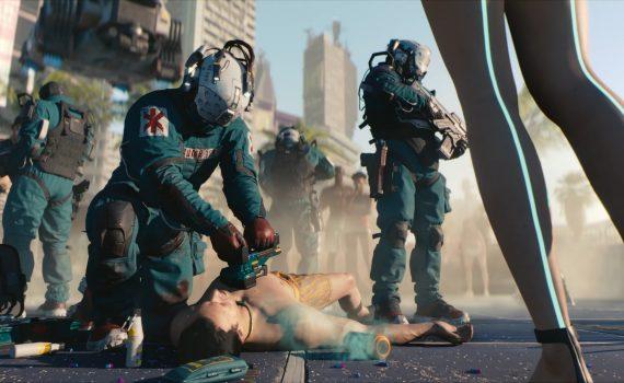 Trauma Team médicos em Cyberpunk 2077